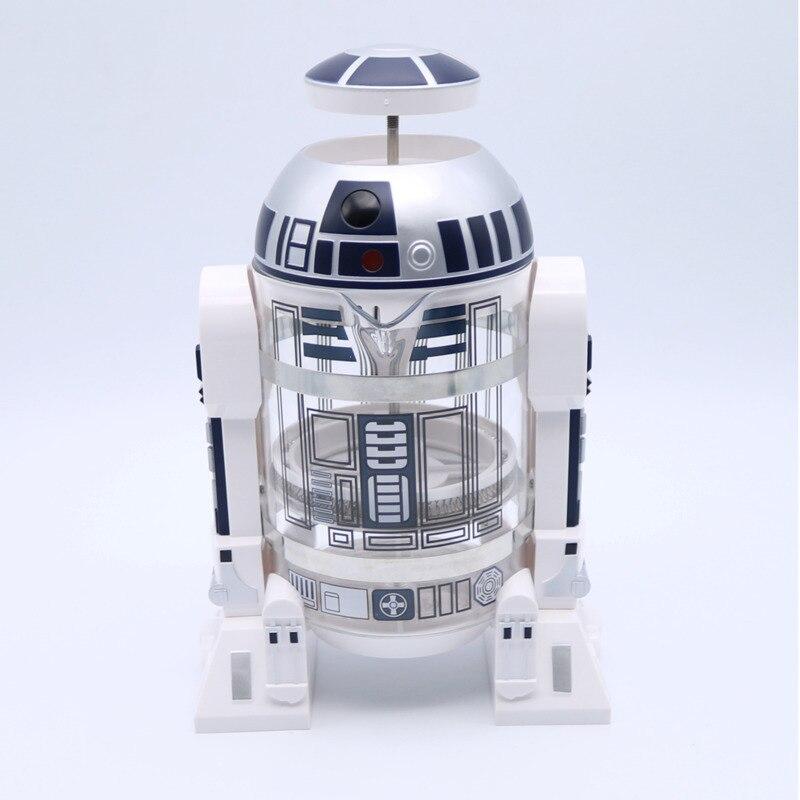 Ev ve Bahçe'ten Kahve Demlikleri'de WSHYUFEI 960ml Ev Mini Star Wars R2 d2 Manuel Kahve makinesi Fransız Preslenmiş cezve'da  Grup 1