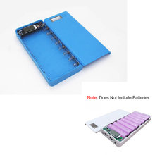 LEORY DIY 8*18650 Power Bank Batterij Box Case Cover Externe Plastic Power bank Batterijen Box Behuizing Case Houder kleur Blauw(China)