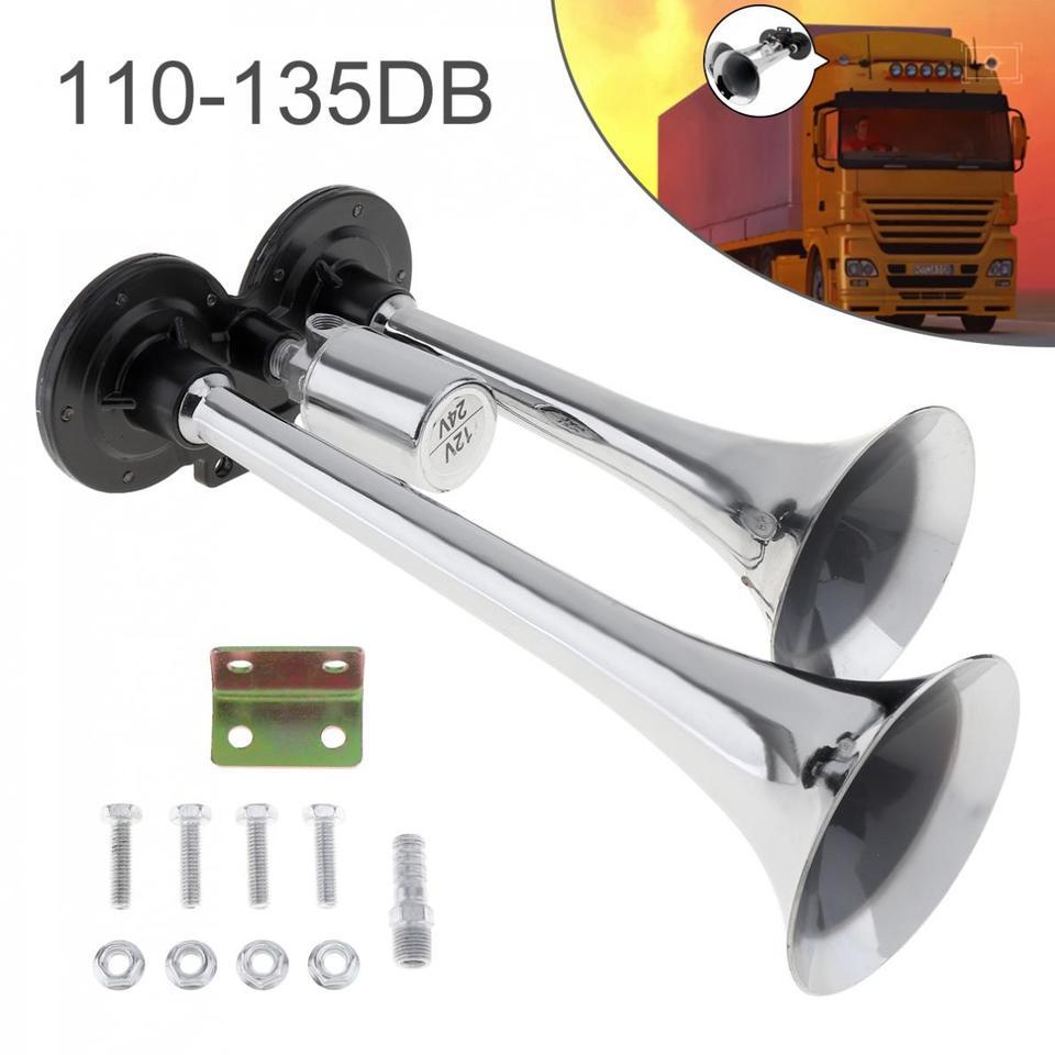24V 178DB Tromba dAria Universale Un Doppia Tromba Nera Super Loud per Auto Nrpfell 12V Barche Camion