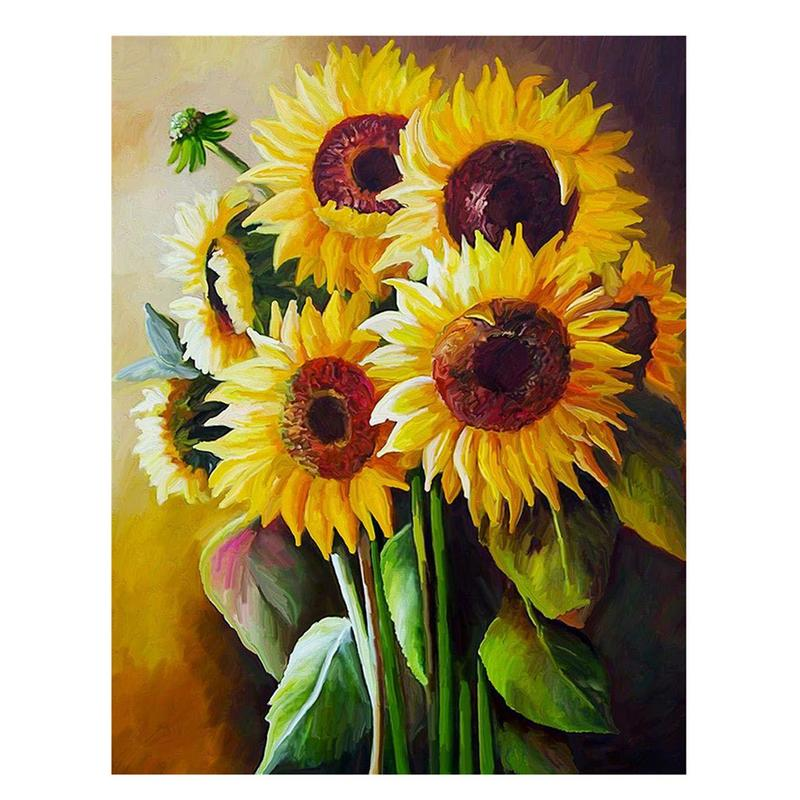 Rhinestone Painting DIY Magic Full Drill 3D Sunflower RhinestoneHome Wall Decor Luster Is Bright Rhinestone Painting in Party DIY Decorations from Home Garden