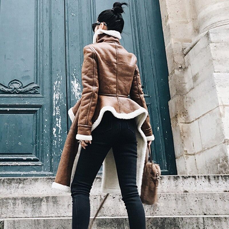 Deat 2018 New Fashion Zipper Unregelmäßigen Pu Baumwolle Kleidung Trendy Winter Heißer Verkauf Lange Abschnitt Persönlichkeit Kleidung Mantel Be285 Haus & Garten
