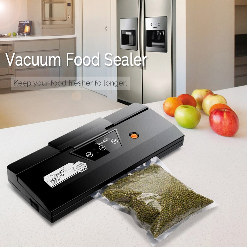 Vacuum Sealer Automatic Dry And Wet Food Packing Machine 100W For Household Fresh Keep Black Color US Plug 220v -240vVacuum Sealer Automatic Dry And Wet Food Packing Machine 100W For Household Fresh Keep Black Color US Plug 220v -240v
