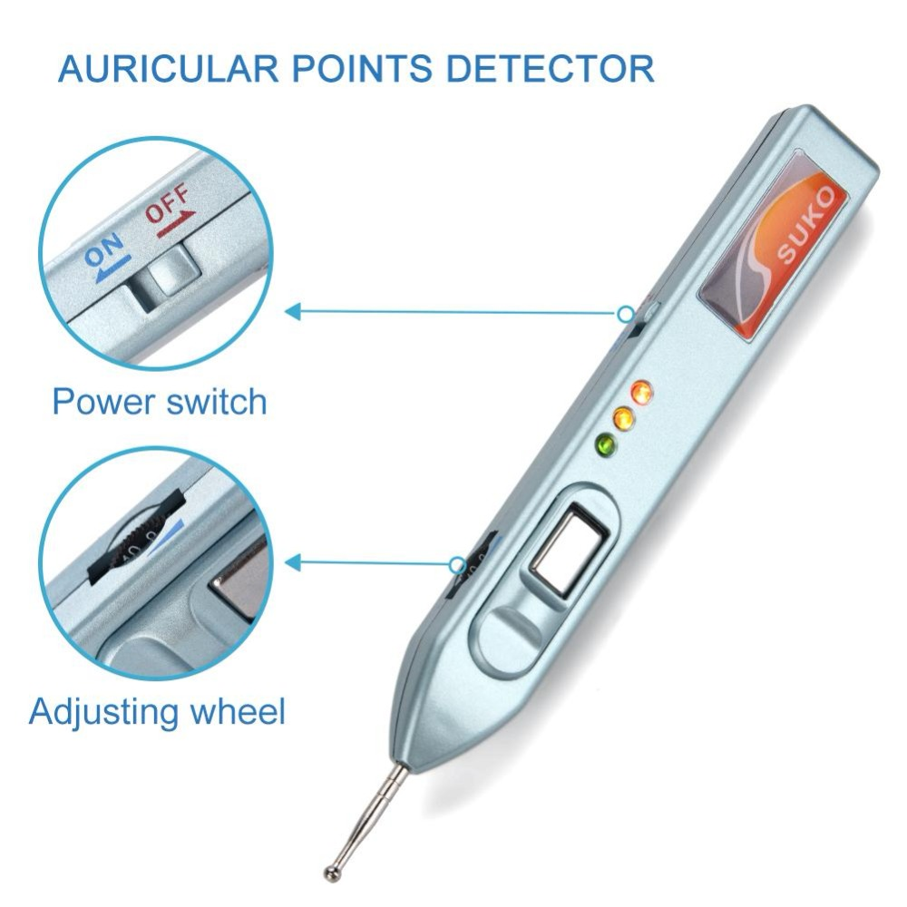 Optical Ear Detection Auricular Points Detector Warning Sound Auriculotherapy Acupressure Ear Acupressure Massage Therapy Probe-in Ear Care from Beauty & Health    2