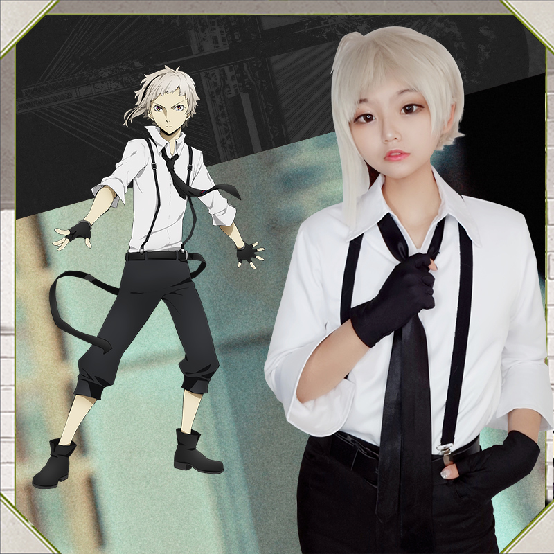 Milky Way Anime Bungo Literary Stray Dogs Nakajima Atsushi Cosplay Costume Shirt Pants Whole Costume With Accessories
