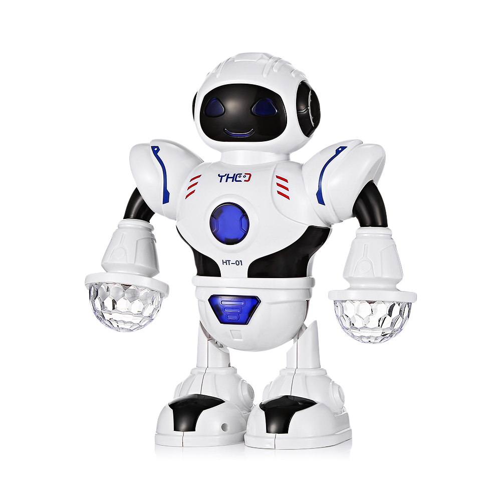HT-01 Kids Electronic Smart Space Dancing Robot with Music LED Light