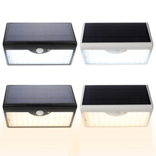 LED Induction Wall Lamp With Remote Control Solar Powered Light For Garden Courtyard