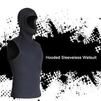 1PC Neoprene Scuba Diving Suits Diving Vest Men Wetsuits Snorkeling Tops Male Swimsuits Hooded Warm 3MM Swimsuit Hooded Hat
