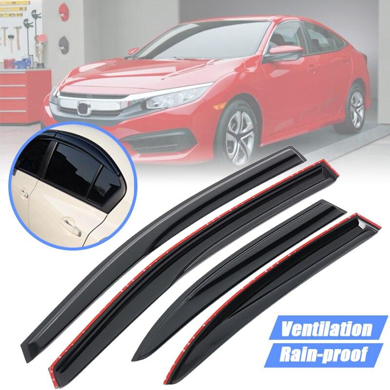ใหม่ 4 ชิ้นรถ Auto Smoke ด้านข้าง Rain Sun Shade หน้าต่าง Visors สำหรับ Honda สำหรับ Civic 2006-2011 อัตโนมัติ Rain Shade Shelter