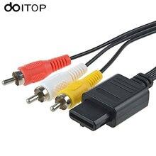 DOITOP AV TV RCA فيديو وصلة كابل 180 سنتيمتر 6FT ل لعبة مكعب ل SNES ل نينتندو ل N64 64 لعبة ألعاب الفيديو الكابلات A3