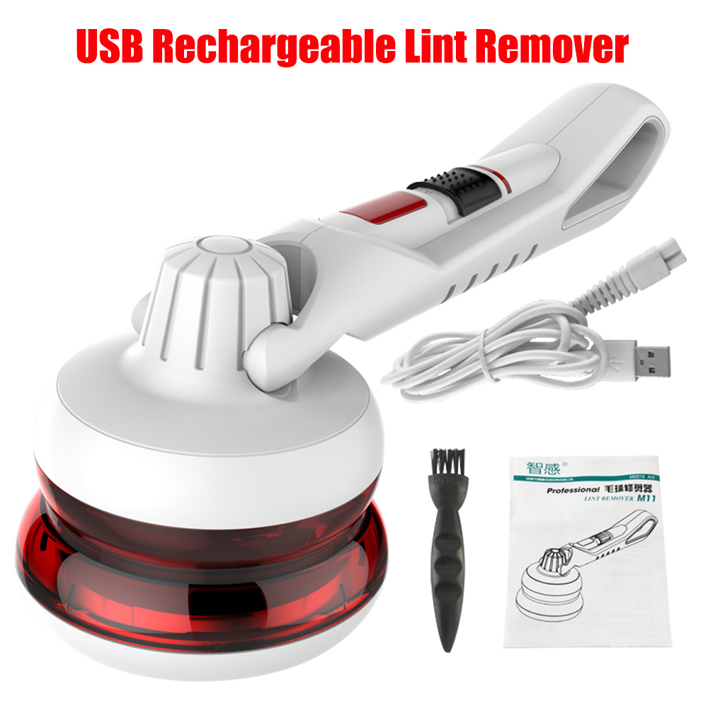 ZHIGAN Lint Remover USB Rechargeable Household Sweater Clothes Fuzz Pill Fabric Shaver Lint Remover Machine 1.8m Power Cord 9W