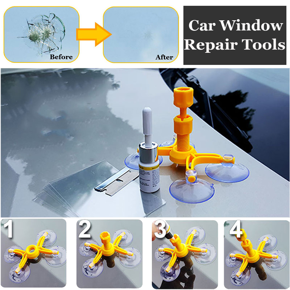 Windshield Repair Kits DIY Car Window Repair Tools Glass Scratch Phone Windscreen Crack Restore Window Screen Polishing