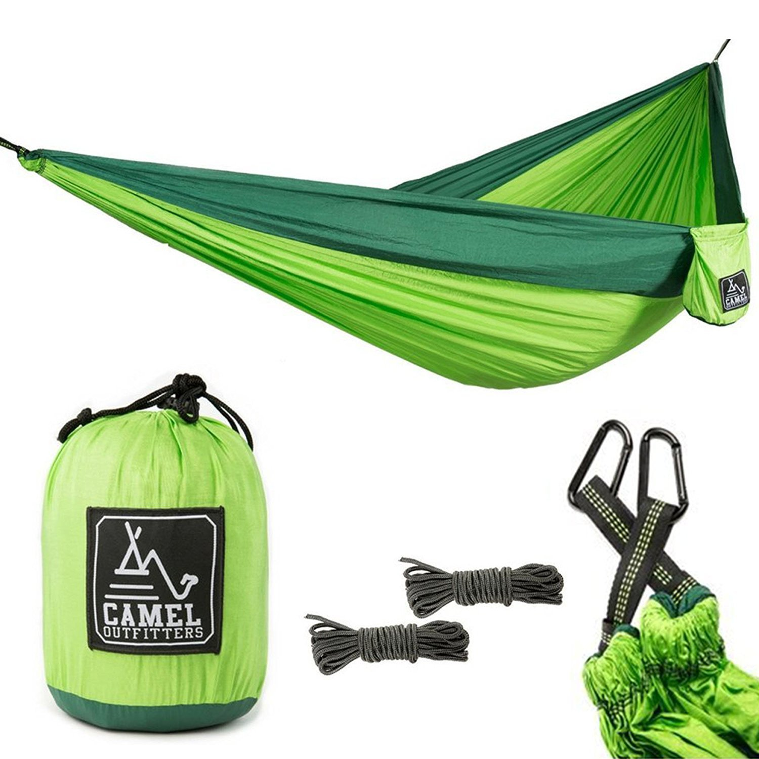 Outdoor Parachute Fabric Nylon Hammock Enlarged Widening Ultra-light Hammock Woodland Lake Swing Cot Bed 300x200cm Iqammocking Camping & Hiking