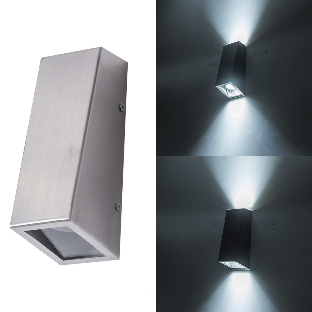Lamparas Led Para Patios Lámpara De Pared Moderna Para Decoración Del Hogar Iluminación Led Para Exteriores Balcón Pasillo De Patio Acero Inoxidable Ac85 265v
