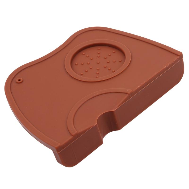 Silicone Coffee Tamper Mat Holder Espresso Maker Support Base Non-Slip Flexible Corner Mat Barista Coffee Tea Bar Tool M