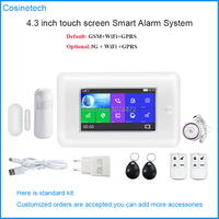 New arrival GSM WIFI PG106 alarm system,APP controll Smart home Alarm,Full Touch color screen 3G security alarm system with RFID