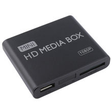 Mini media player 1080 p mini caixa de tv multimídia leitor de vídeo completo hd sd cartão mmc leitor 100 mpbs au plugue da ue(China)