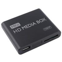 Mini Media Player 1080 p Mini Box TV Box Multimedia Video Player Full HD SD Card MMC reader 100 Mpbs AU EU Plug