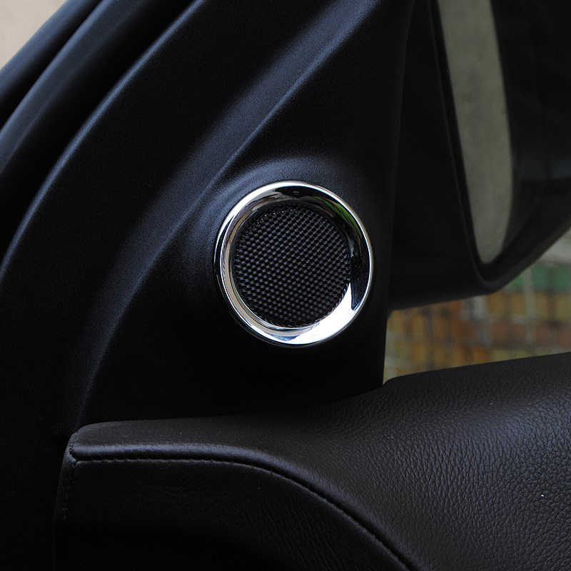 Для 2011-2019 Jeep Grand Cherokee автомобиля внутренняя передняя дверь стерео динамик отделка кольцо