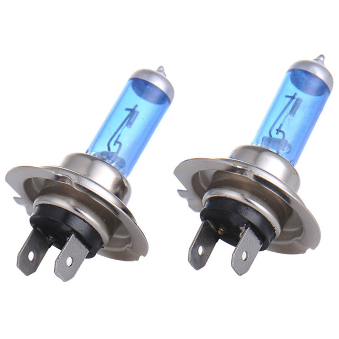 2pcs 4500k Super White Car Signal Lamp Bulb H7 55W 12V