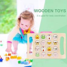 Ранние развивающие деревянные игрушки шахматы на запоминание догадка животное Когнитивная игрушка подарок