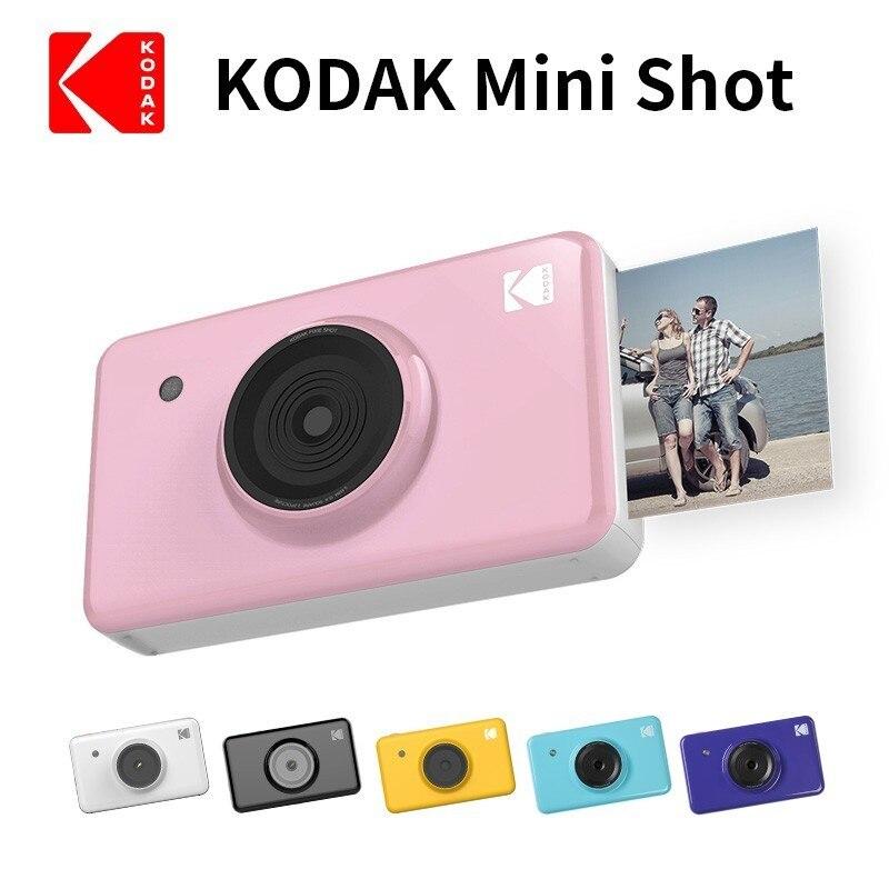 Nouveau KODAK Mini Shot 2 en 1 sans fil instantané appareil Photo numérique médias sociaux Portable imprimante Photo LCD affichage couleur impressions