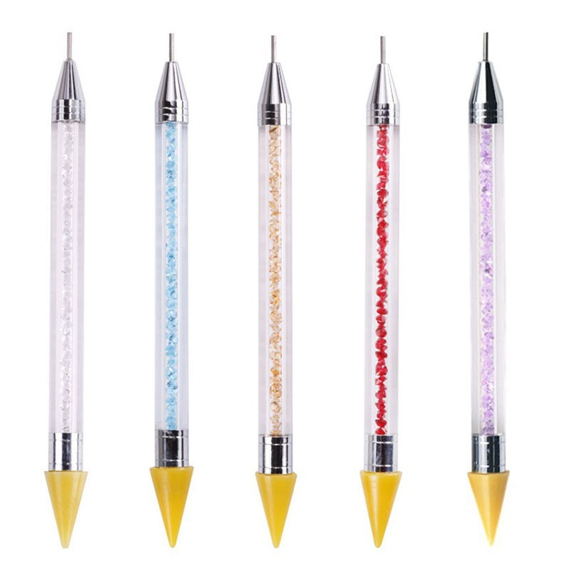 Dual-ended Nail Dotting Pen Crystal Beads Handle Rhinestone Studs Picker Wax Pencil Nail Art Tool DIY Diamond Painting Pen tools Revlon Pro Collection Salon One-Step Hair Dryer and Volumizer
