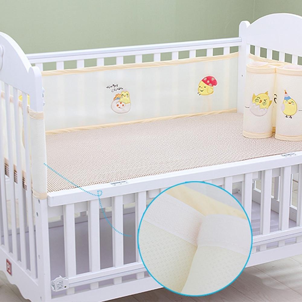 Baby Bed Wieg.Beste Koop 2 Stks Set 3d Ademend Baby Bed Bumper Veilig Pasgeboren