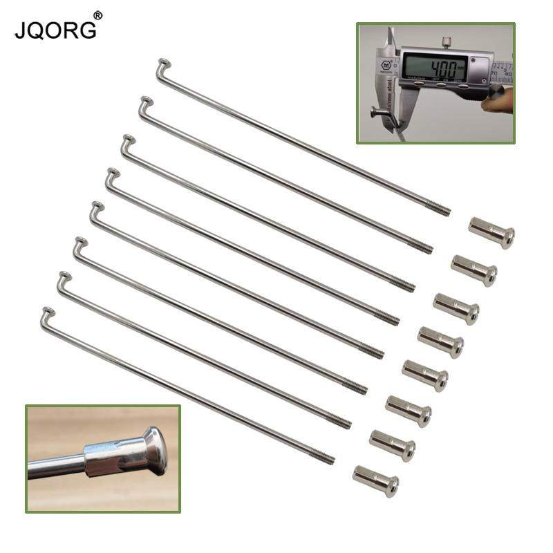 JQORG 8G Diameter 4 0 mm Motocross Spokes J bend 304 Stainless Steel Material Equal Diameter