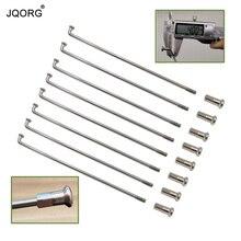 JQORG 8G диаметр 4,0 мм спицы для мотокросса j-изгиб 304 нержавеющая сталь Материал равный диаметр спицы мотоцикла с латунным соском