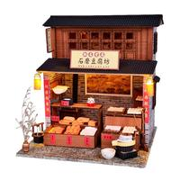 DIY Cabin Chinese Tofu Shop DIY Dollhouse Birthday Toy Cottage Holiday Birthday Gift For Kids