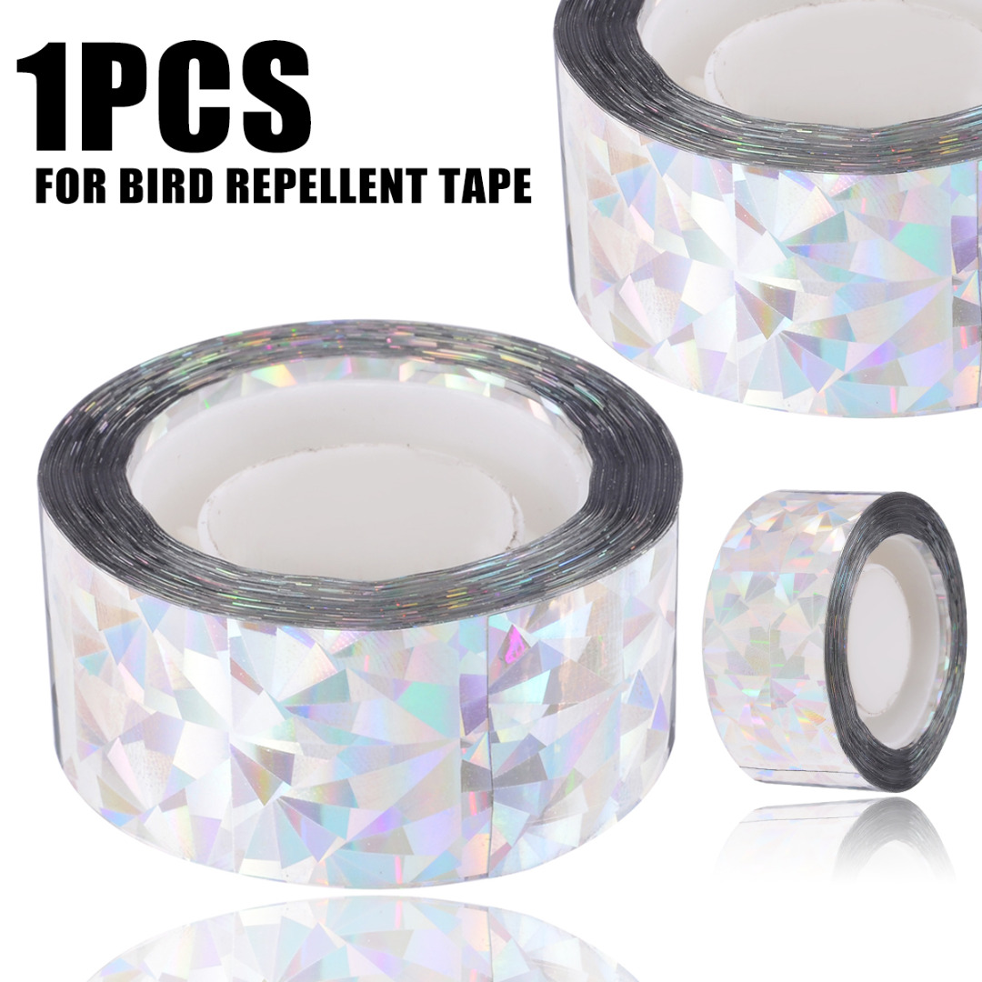 Anti Bird Tape Bird 90M/45M Scare Tape Audible Repellent Fox Pigeons Repeller Ribbon Tapes For  Pest Control
