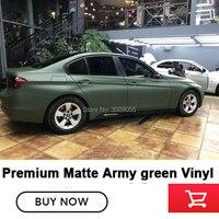 Высокая конец матовые ботинки в военном стиле; зеленые оберточная пленка Виниловая пленка для оклеивания автомобилей wrap Матовая Военный Зе