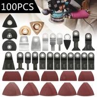 100pcs Oscillating Saw Blades Multi Tool Accessories Kit For Fein Bosch Makita
