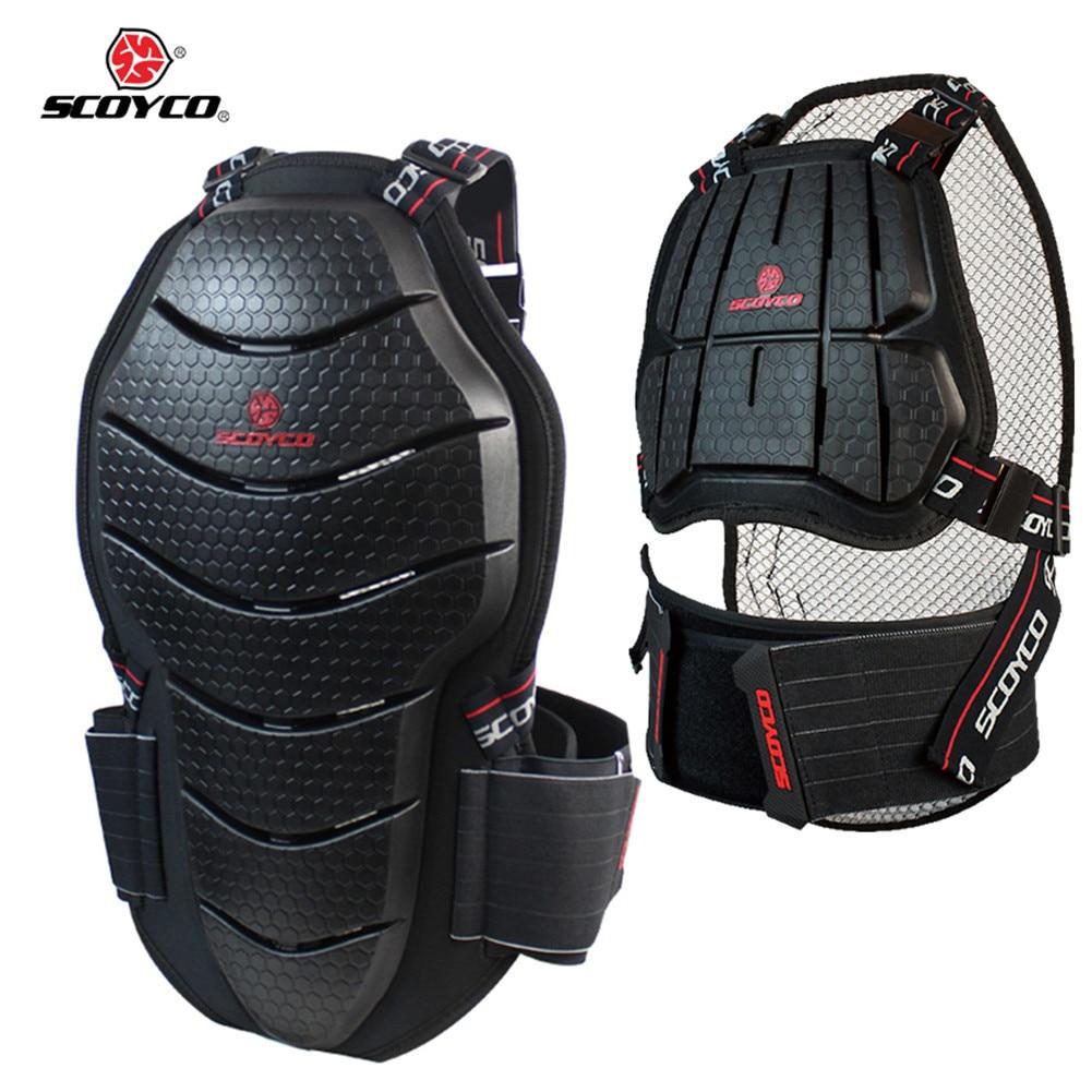 SCOYCO Poitrine Protection Moto Motocross gilet pare-balles Marchandises Gilet Dos Équipement Moto Cross Protecteur Gear Armour CE Approuvé