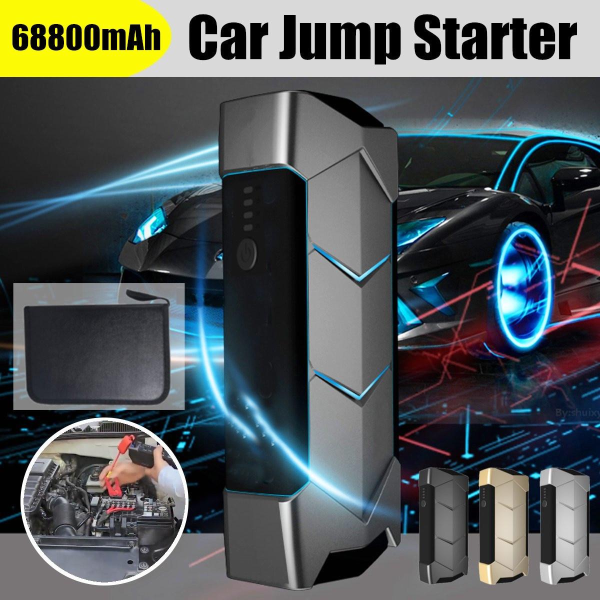Démarreur de voiture de batterie externe portatif de la capacité élevée 68800 mAh Starte 400A 12 V pour le dispositif de démarrage de chargeur de propulseur de batterie de voiture