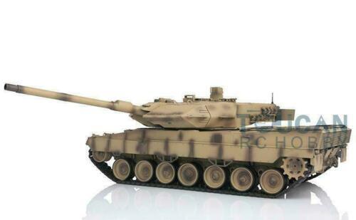 Henglong 1/16 jaune 6.0 carte mère infrarouge bataille plastique Leopard2A6 RTR RC réservoir 3889 boîte de vitesses en acier TH12794