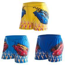 Милые модные шорты для плавания с рисунком для мальчиков; пляжные боксеры; Детские шорты для плавания; детская одежда для водных видов спорта; свободный размер
