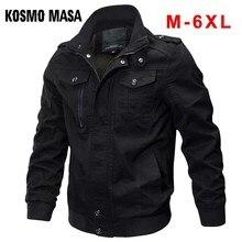 KOSMO แจ็คเก็ตชายฤดูใบไม้ร่วงฤดูหนาวทหารแจ็คเก็ตบุรุษและเสื้อสีดำเสื้อ Windbreaker MASA