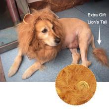 2 шт./компл. костюм для животного Up Pet костюм парик льва шиньон с хвостом кошка собака шейный платок золотой ретривер питомец щенок ухо украшение