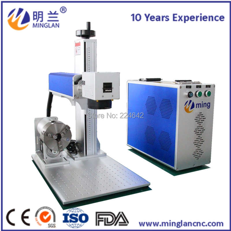 China new stype 20w JPT M6 MOPA laser marking machine with rotary axis used for engraving on rings bracelet curved surfaceChina new stype 20w JPT M6 MOPA laser marking machine with rotary axis used for engraving on rings bracelet curved surface