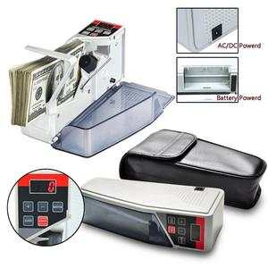 Image 2 - VKTECH Portable Mini Handy Money Counter for Most Currency Note Bill Cash Counting Machine EU V40 Financial Equipment EU Plug