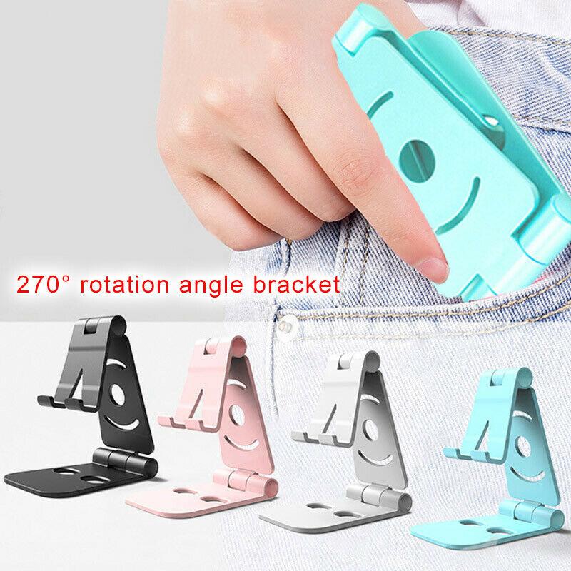 1 Pc Tragbare Faltbare Cradle Telefon Halter Faltbare Swivel Telefon Ständer Halter Cradle Faul Halterung Für Kleine Große Smartphones Neue