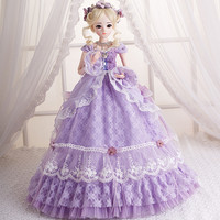 1/3 BJD Doll Princess Girl Reborn Doll With Maxi Long Party Dress Wig Shoes Makeup 18 Joints Moveable Body Doll Christmas Gift