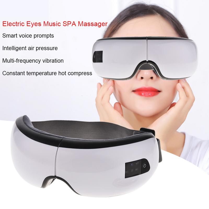 4 S sans fil USB Rechargeable Bluetooth pliable masseur des yeux réglable pression d'air protecteur des yeux outil de soin des yeux