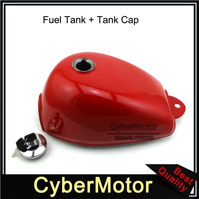 Red Gas Fuel Tank & Lock Cap Cover For Honda Mini Trail Monkey Bike Z50 Z50A Z50J Z50R Motorcycle