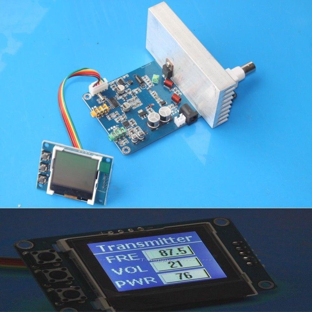 15 W FM émetteur PLL stéréo audio 76 M 108 MHz fréquence numérique LCD affichage Radio Station de diffusion récepteur 1 15 W réglable-in Pièces de rechange et accessoires from Electronique    1