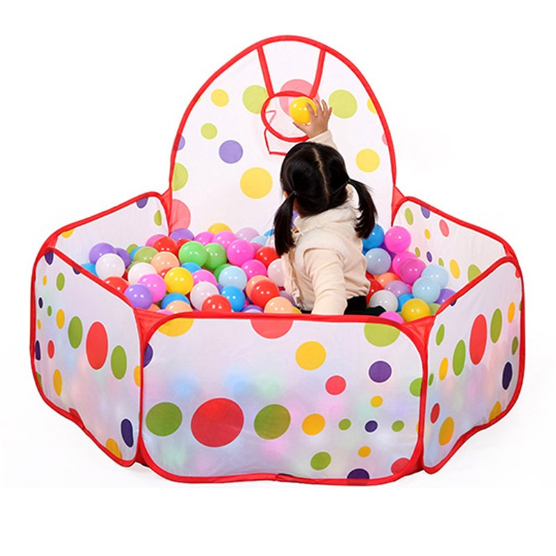 Folding Kids Ocean Ball Pool Pit Foldable Children Playpen Ball Hoop Game Play Tent Baby Indoor Outdoor Playhouse Kid Tent House