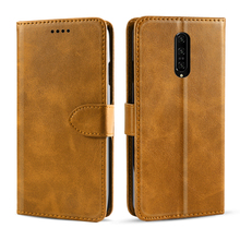 For Oneplus 7 Pro Case Vintage Retro Calf Grain PU Leather Magnetic Flip Stand Wallet Cover For One Plus 7 Pro Case Card Holder