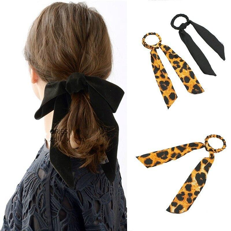 leopard print elastic hair band