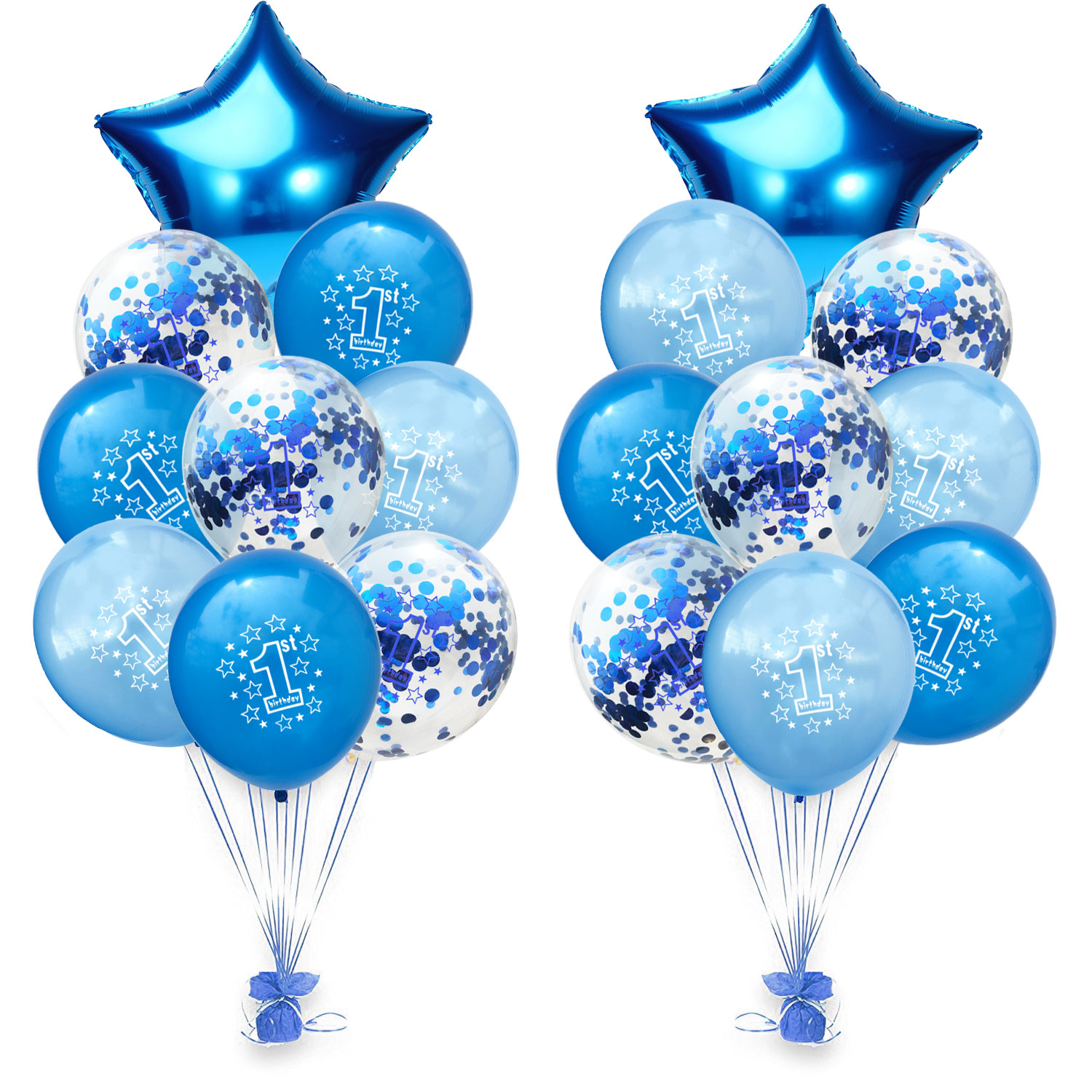 10 Pcs Baby First Birthday Balloon Confetti Balloon for Party Decoration
